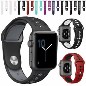Sport Band Soft Silicone Strap Replacement Watch Band For Apple Watch 5 4 3 2 1