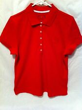 Women's Tommy Hilfiger Red Polo Short Sleeve Collared Shirt (Size Large)