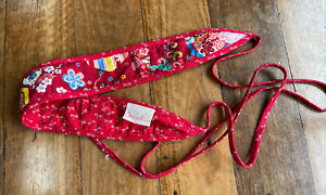 Maiocchi reversible belt - size M - red with multicoloured Japanese pattern