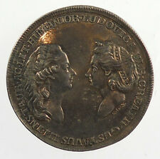Circa 1780 GUSTAVUS III AND LOUISA ULRIKA OF SWEDEN By Fehrman Silver 33mm