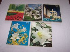 Vintage EASTER Ideals Magazines Lot of 5 - 1961 - 1966 - 1980 - 1982 - 1985