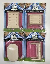 Mini Doll House Furniture Lot Of 4 Items Dressers & Table