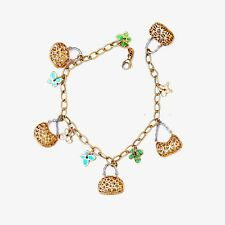 Lovely 18K gold bracelet Vintage Flower basket design vitality Bracelet