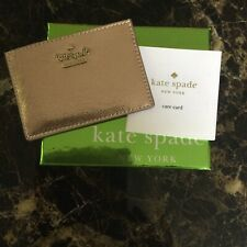 Kate Spade Gold Leather Credit Card Holder, Only Used Once!