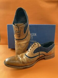 Barker McClean Men's Shoes Uk 9.5 F Blue And Tan With Box And Extras