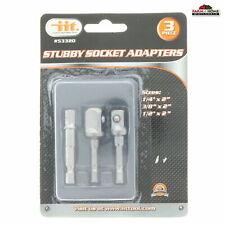 Socket Bit Adapters 3pc ~ New