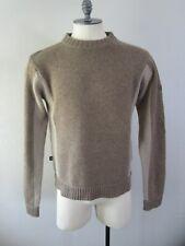 Ski-Doo Bombardier Mens Brown Cashmere Wool Pullover Sweater M EUC