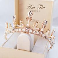 Baroque Sparkling Crystal Rhinestone Wedding Crown Party Headband Bridal Tiaras