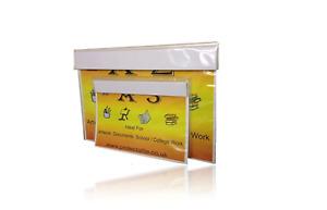 A1 , A2, A3 Heavy duty 700G polythene art folders inserts 1500micron White board