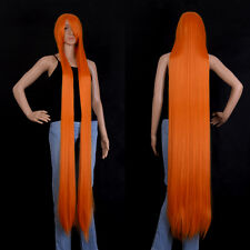"""Mixed orange Extra Long Cosplay Wig Cosplay Party Costume Anime Hair  60""""/150cm"""