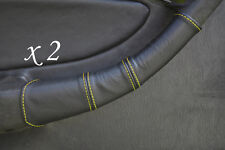 YELLOW STITCH FITS TOYOTA CELICA GT4 T18 90-93 2X DOOR HANDLE LEATHER COVERS