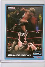 TNA SIGNATURE IMPACT 2011 TRADING CARD ORLANDO JORDAN # 50 PARALLEL #03/50
