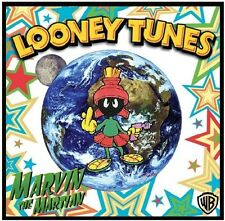 "MARVIN THE MARTIAN FRIDGE MAGNET-3, LOGO # 8. 4"" X 4"". LOONEY TUNES....FREE SHIP"