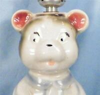 Vintage Teddy Bear Pottery Lamp Baby Childs Bedroom 1950s Retro Adorable Works