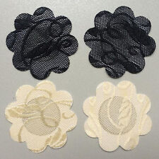 10 Pairs Lace Self Adhesive Nipple Covers Nude and Black