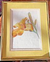 "Original work Colored Pencil ""Lily"" Art Framed 8x10"