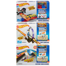 HOT WHEELS Track Builder Playsets RAPID / LOOP LAUNCHER / CUSTOM TURN KICKER