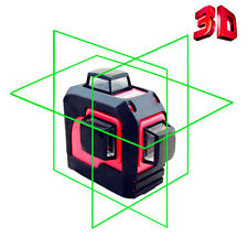 LETER  3D Green Laser Level Self Leveling  360 Degree Horizontal&Vertical Cross