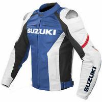 Suzuki GSXR Motorbike/motorcycle  Cowhide Leather Jacket
