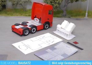 1:87 EM159 Bausatz Tank und Staukiste + Vollerverkleidung für Herpa Scania 6x2