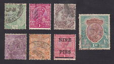 India 1911-1921 Scott 81-84,86,93,104 - King George V - Used
