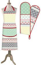 Creative Tops Wanderer Colourful Soft Design Cotton Apron Cotton Oven Gloves