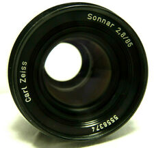 GREAT CONDITION USED W. GERMANY Carl Zeiss Sonnar 2.8/85 LENS 4 Rollei QBM