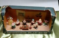 1960s Marx Disneykin Play Set Complete Snow White And Seven Dwarfs.