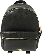 Coach F28995 Mini Charlie Pebble Leather Black Backpack Bag