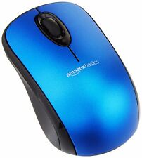 Brand NEW-AmazonBasic BLUE 3-Button Wireless Optical Mouse w/Nano USB Receiver