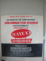 Rayco AutoService Demonstration 8 Track Jerry Vale Les Elgart Streisand Page