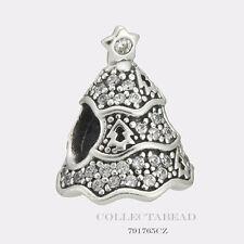 Authentic Pandora Silver Twinkling Christmas Tree CZ Bead 791765CZ *SPECIAL