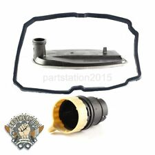 For Mercedes-Bens Auto Transmission Filter + Oil Pan Gasket + Plug Adapter