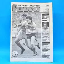 DDR FUWO Fussballwoche 4/1985 FC Magdeburg Motor Suhl Andreas Thom Lok Leipzig A