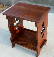 Antique Mission Oak side table Magazine Stand Lakeside Craft Shop c. 1915