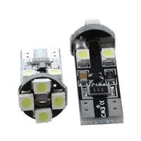 2 x T10 W5W CANBUS Sin error 8 SMD LED Blanca bombilla luz de cuna 12V W2K9