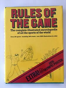 Rules of the Game, Illustrated Sports, 1976, Rare Olympic Poster, FREE SHIPPING