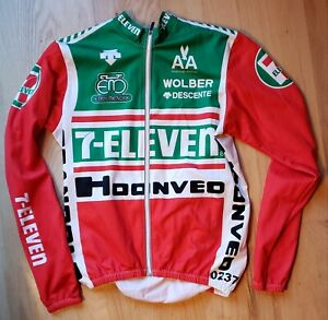 Descente 7-Eleven long sleeve cycling jersey M Medium limited edition large L