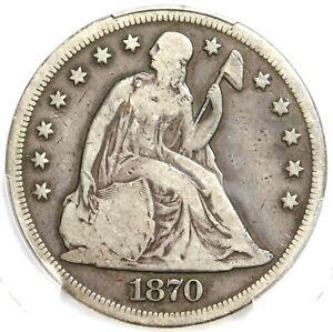 🗽🇺🇸❤️😍❤️PCGS VG10 1870 SEATED LIBERTY DOLLAR