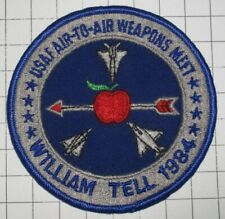 USAF AIR FORCE MILITARY PATCH WILLIAM TELL 1984