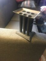Primitive Vintage Metal Tube Taper Candle Mold Colonial Rustic Candlestick