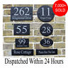 Rustic Slate House Gate Sign Plaque Door Number Personalised Name Plate