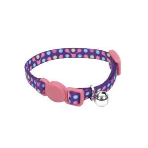 Coastal Safe Cat Lil Pals Adjustable Breakaway Kitten Collar with Bell Purple