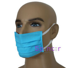1 X Reusable/ washable Facemask Face Cover Blue HAND MADE Size S