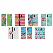 OFFICIAL PAUL BRENT FLAMINGO LEATHER BOOK WALLET CASE FOR SAMSUNG PHONES 1
