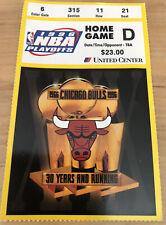 1996 NBA Finals Champion Chicago Bulls GM 2 2nd Rd Playoffs Ticket Stub D Knicks