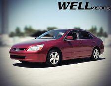 WellVisors For 03-07 Honda Accord 4DrSLEEK HD Chrome Trim  Side Window Visors