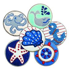 Tovolo Anchors Away Cookie Cutter & 6 Design Stamps Set Whale Shell Fish 81-1510