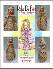 """Robe De Fête"" Fashion Pattern for 14"" Kish Chrysalis"