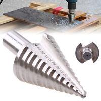 13 Step 5-35mm Spiral Groove Conical Cone Drill Titanium HSS Bit Cutter Set